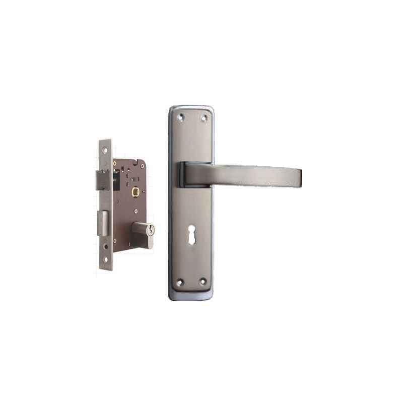 Plaza Orbit Stainless Steel Finish Handle with 200mm Pin Cylinder Mortice Lock & 3 Keys