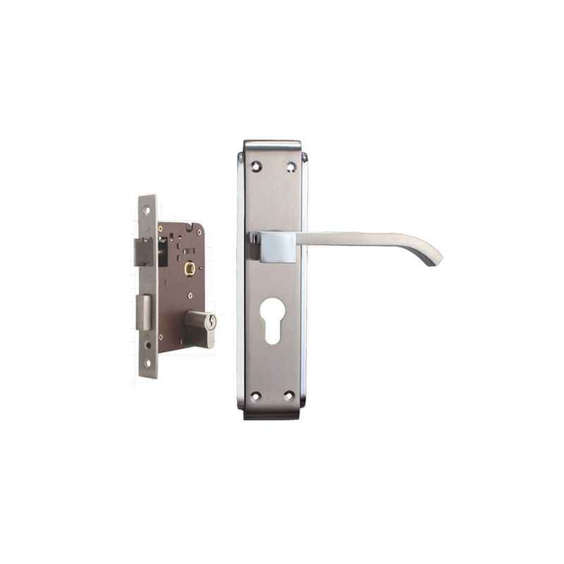 Plaza Rapid Stainless Steel Finish Handle with 200mm Pin Cylinder Mortice Lock & 3 Keys
