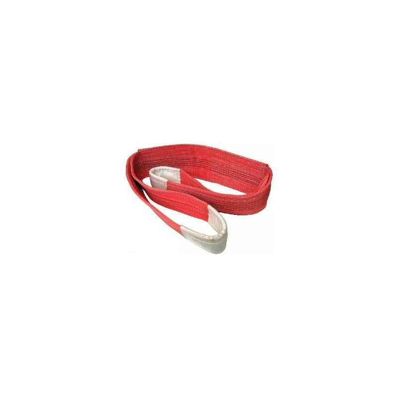 Ferreterro 5 Ton 4m Red Double Ply Flat Polyester Webbing Sling
