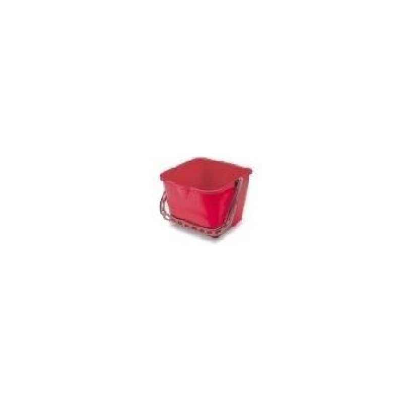 Amsse PSB 25 1001 25L Red Plastic Square Bucket with Measurements