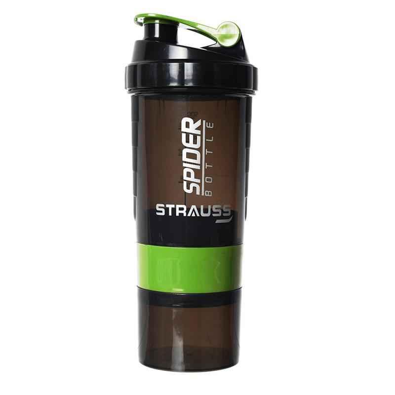Strauss Acrylic Plastic Green Spider Shaker Bottle, Capacity: 500 ml