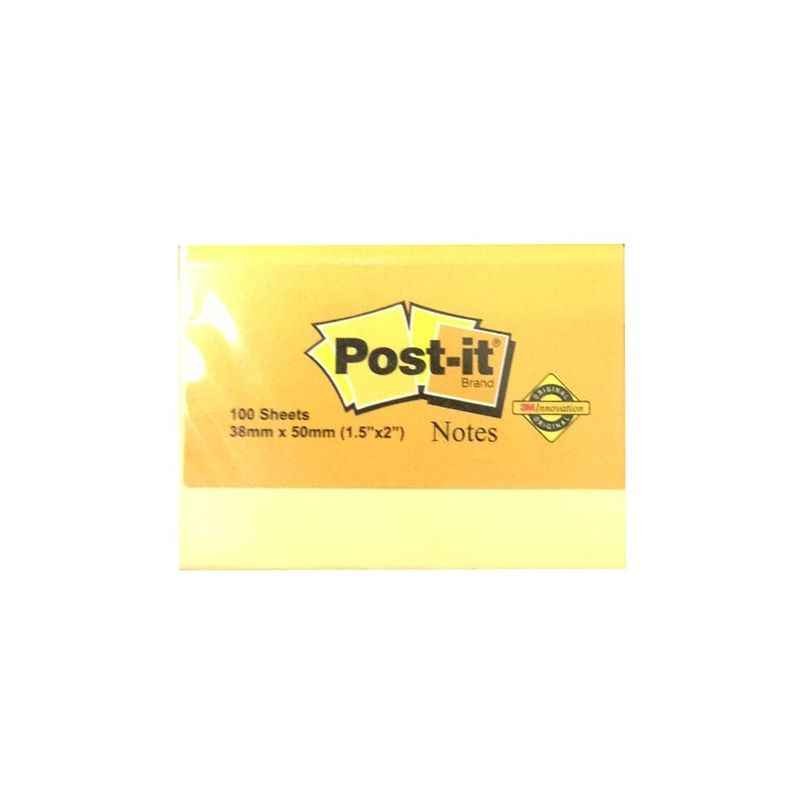 3M Post-it 2 Inch Yellow Notes, IE810100495 (Pack of 5)