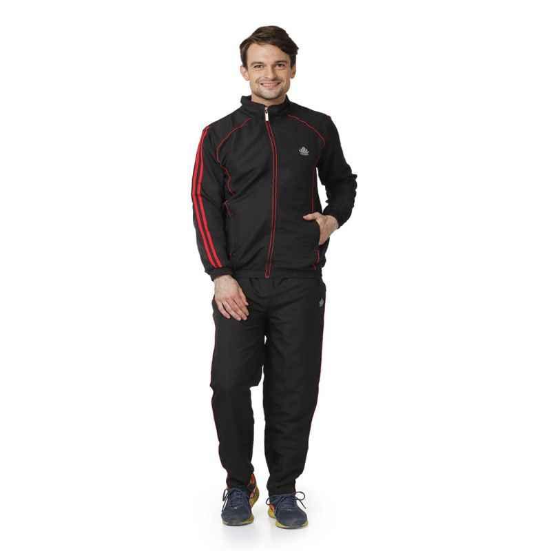 Abloom 126 Black & Red Tracksuit, Size: L