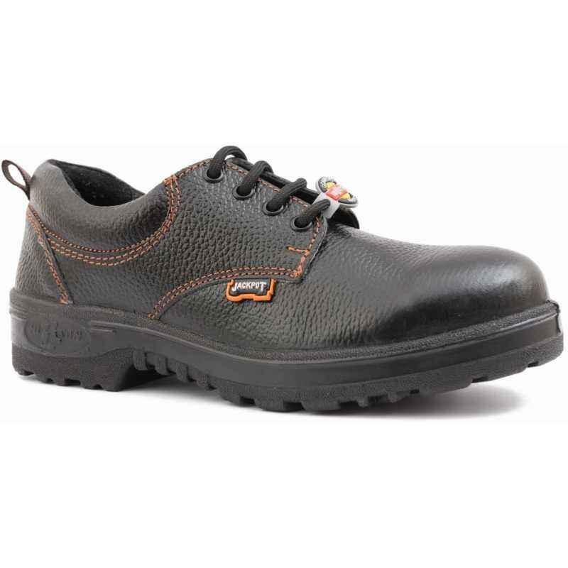 Hillson Jackpot Steel Toe Black Safety Shoes, Size: 6