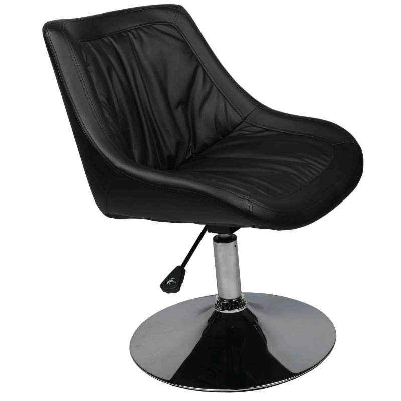 Ventura VF 1631 Black Designer Chair with MS Chrome Base