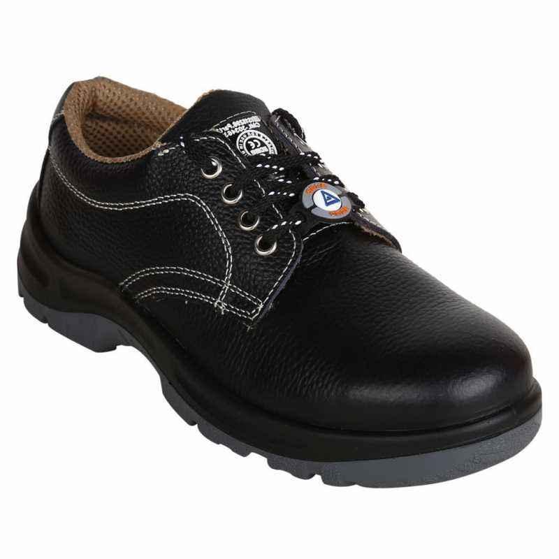 Acme Quark SS10JCO Steel Toe Black Safety Shoes, Size: 6