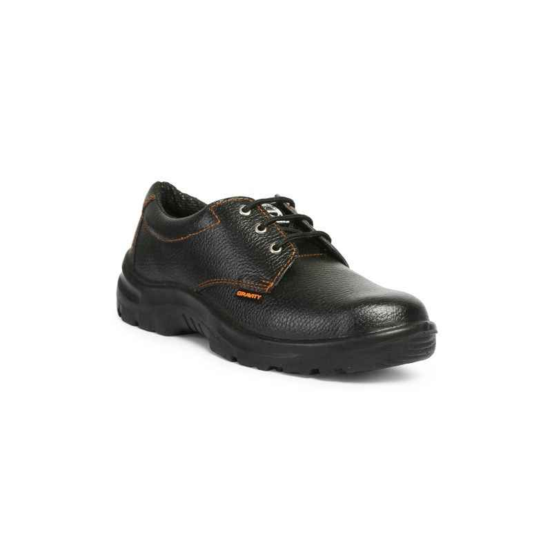 Acme Gravity Steel Toe Black Safety Shoes, Size: 9