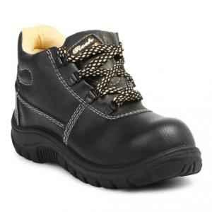 Safari Pro Rocksport Steel Toe Black Safety Shoes, Size: 9