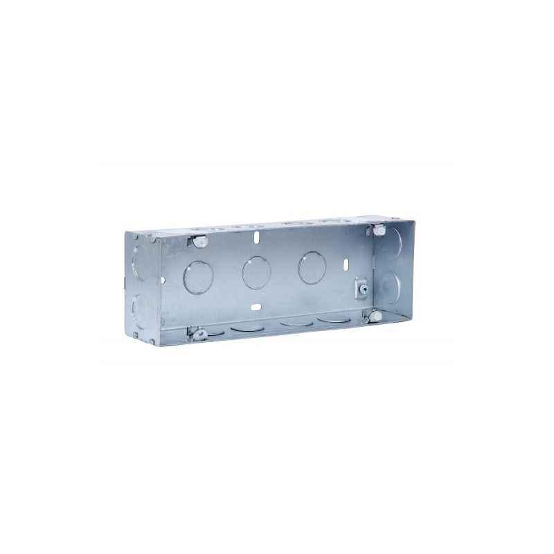 GM Flush Mounting Metal Gang Box, JM-08-005, Dimension: 232x75x52 mm
