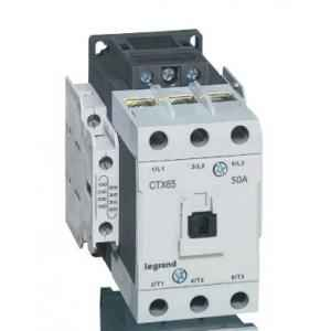Legrand 3 Pole Contactors CTX³ 65 Cage Terminal Integrated Auxiliary Contacts 2 NO + 2 NC, 4161 56