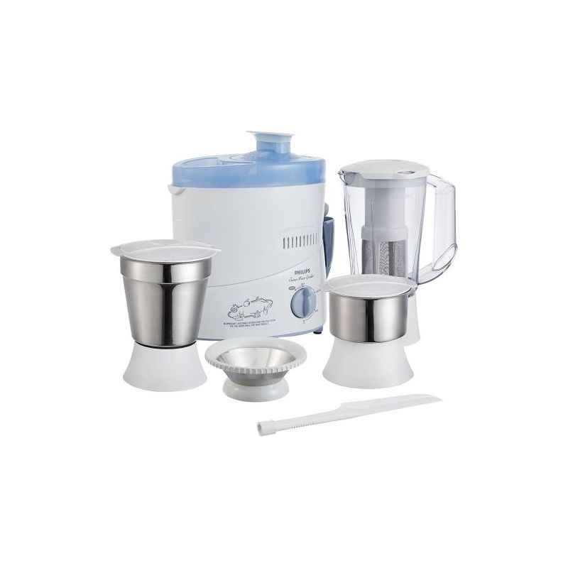 Philips 500W HL1632 Blue 3 Jar Juicer Mixer Grinder with Fruit Filter