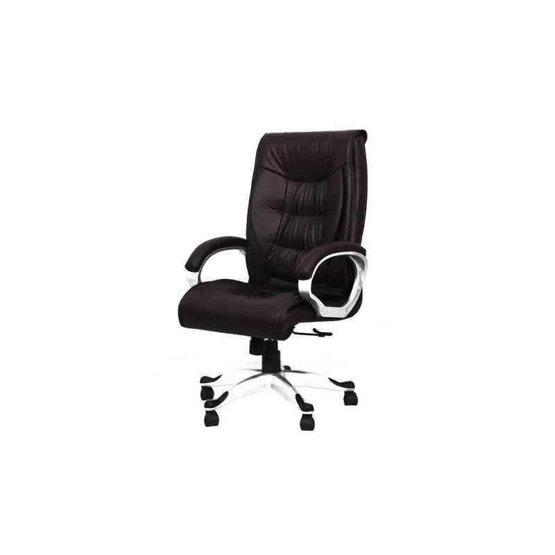 R P Enterprises Fantasia High Back Brown Leatherette Office Chair, Dimensions: 60x60x80 cm