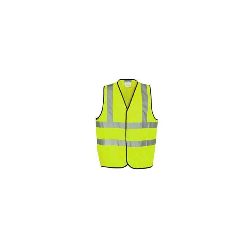 Ziota Green Reflective Safety Jacket, 1 Inch Tape, GKJ06 (Pack of 10)