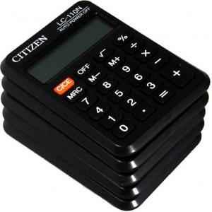 Citizen 8 Digit Basic Calculator, LC-110N (Pack of 5)