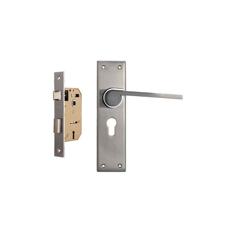 Plaza Elite 65mm Mortice Lock with Stainless Steel Handle & 3 Keys
