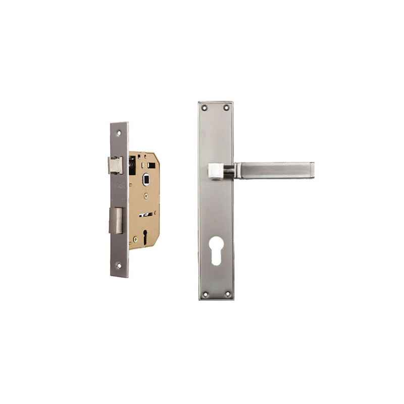 Plaza Pluto Gold Silver Finish Handle with 65mm Mortice Lock & 3 Keys