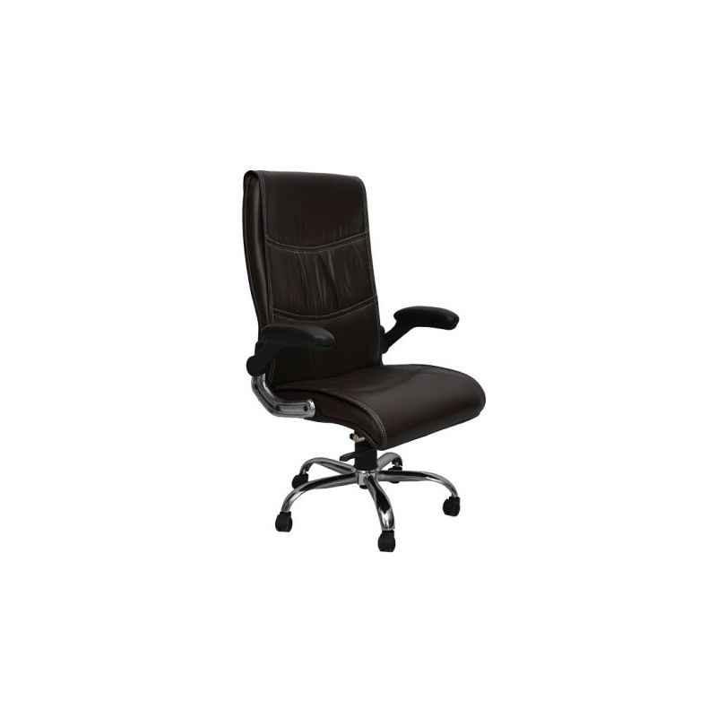R P Enterprises Loyd High Back Black Leatherette Office Chair, Dimensions: 45x48x60 cm