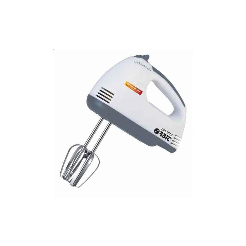 Orbit 150W 2 in 1 White Hand Mixer HM-1510
