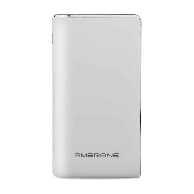 Ambrane 10000mAh Polymer White Power Bank, PP-110