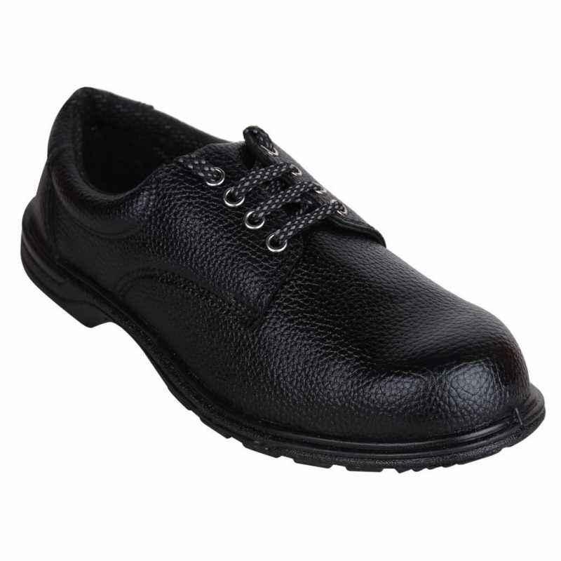 Acme Rocknet Steel Toe Black Safety Shoes, Size: 8
