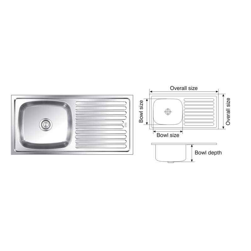 Nirali Elegance Anti Scratch Finish Kitchen Sink, Size: 1145x510 mm