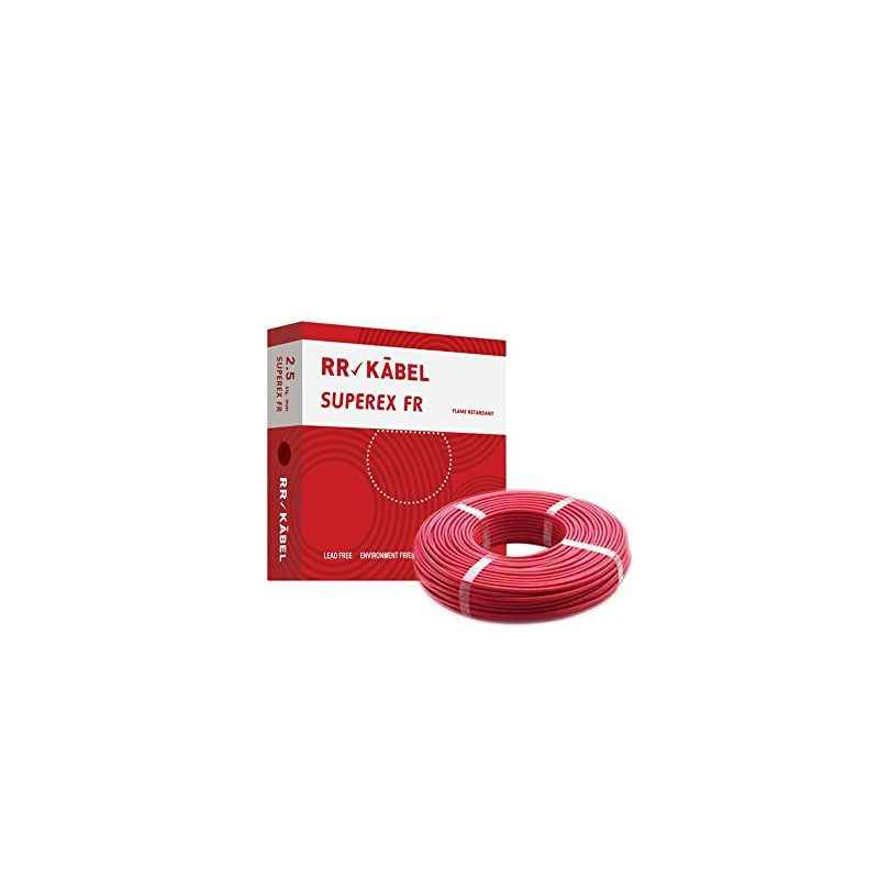 RR Kabel Superex-FR 1 Sq mm Red PVC Insulated Cable, Length: 90 m