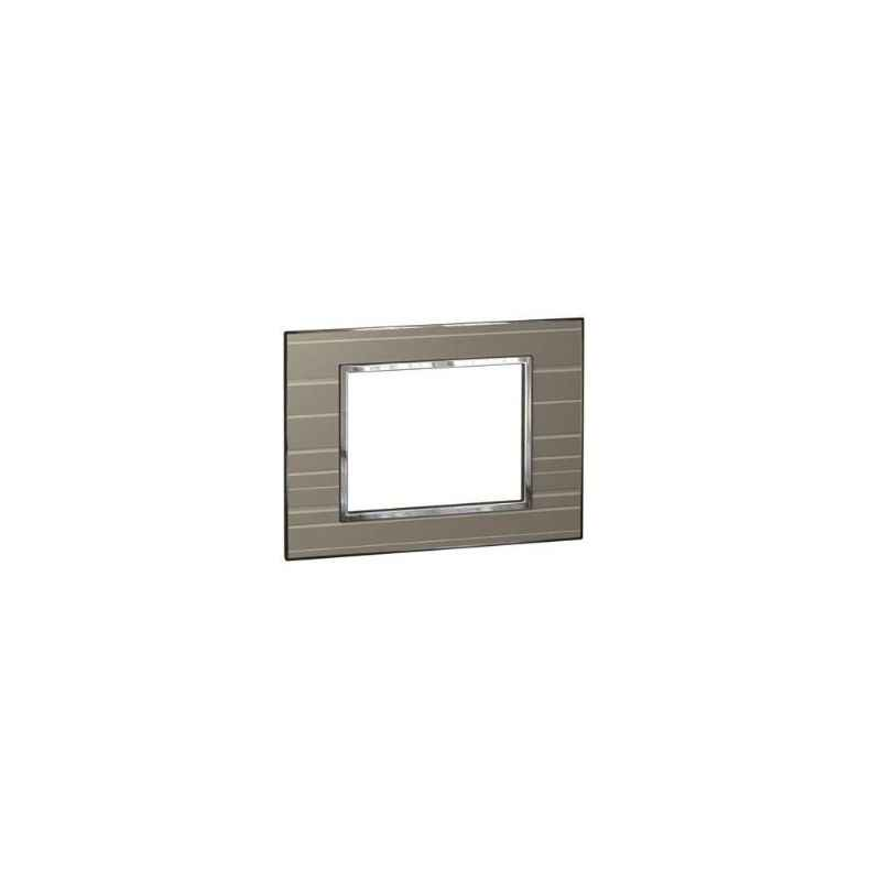 Legrand Arteor 4 Module Graphic Casual Square Cover Plate With Frame, 5763 51