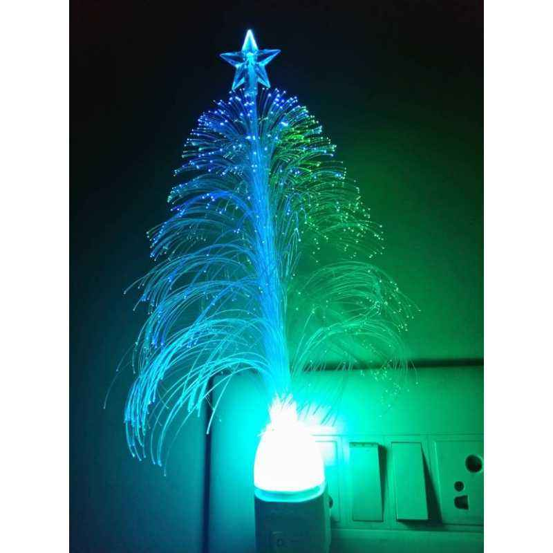 Homes Decor White Xmas Night Lamp, Height: 20cm (Pack of 2)