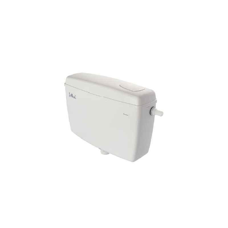 Parryware Bright Slimline Tip Top Single Flush Plastic Cistern, E8303