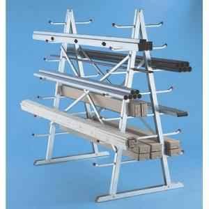 2 Layer Angle Frame Metal Storage Rack, Load Capacity: 0-50 kg