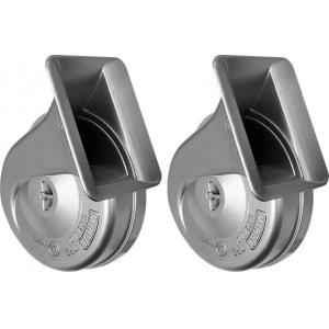 Minda 12V 6A Silver Jazz Horn Set for Cars, MJ-25