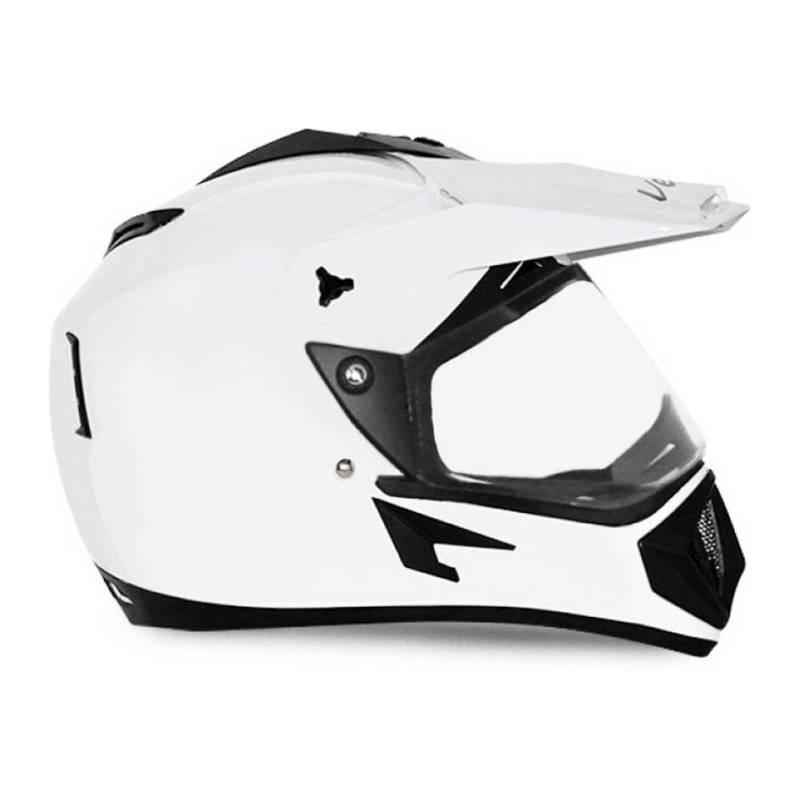 Vega Off Road White Full Face Helmet, Size (Medium, 580 mm)