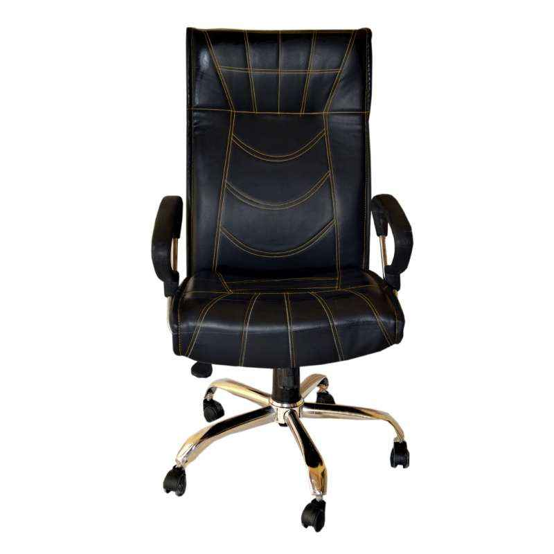 Mezonite High Back Leatherette Black Office Chair