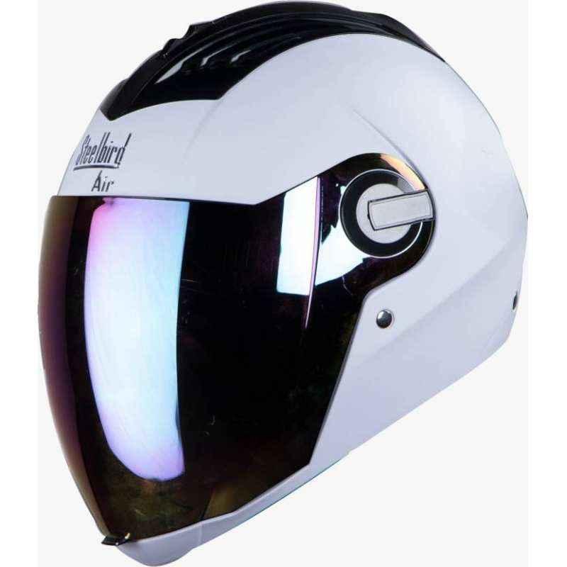 Steelbird SBA-2 Dashing White Helmet, Size (Medium, 580mm)