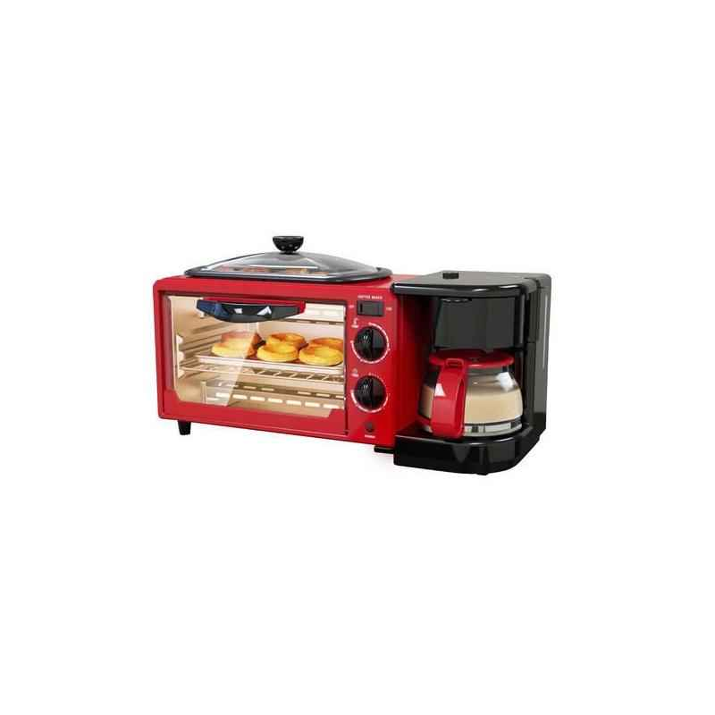 Skyline 1050-1250W 9 Litre 3 in 1 Red Breakfast Maker, VTL-5527