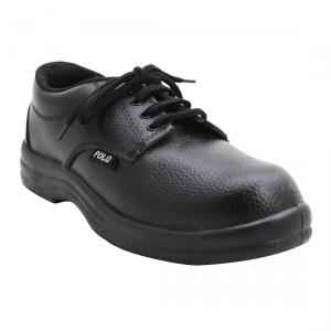 Polo Indcare Steel Toe Black Safety Shoes, Size: 9