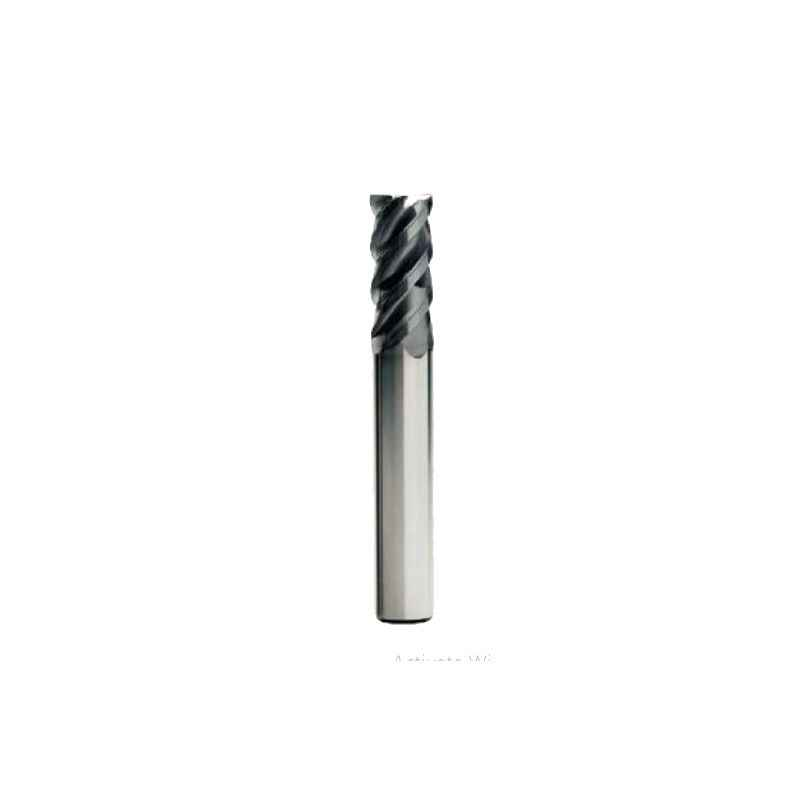 Miranda 10mm 4 Flute TIALN Coated Solid Carbide End Mill, CPL SCEM, Overall Length: 75 mm