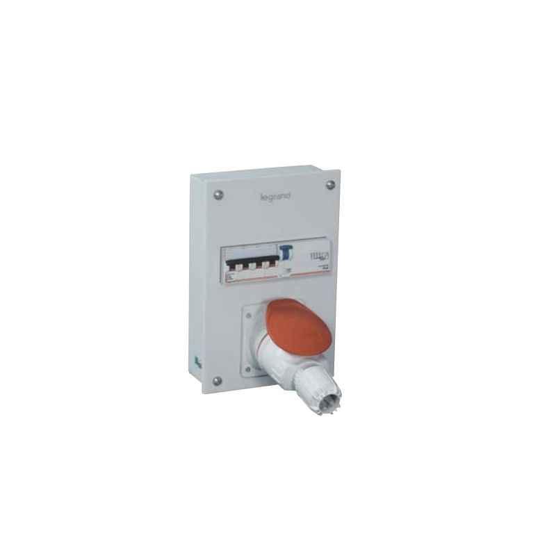 Legrand Ekinox 32A 3P+E Four Pole P-17 Tempra Plug & Socket Distribution Board, 5078 61