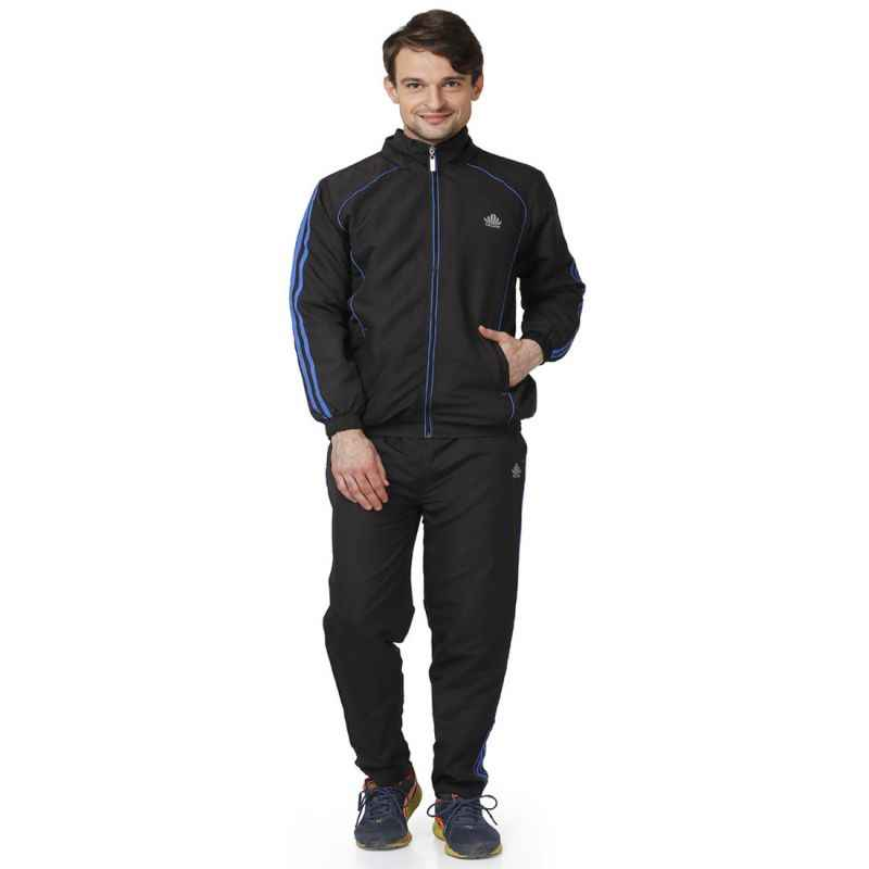 Abloom 127 Black & Royal Blue Tracksuit, Size: M