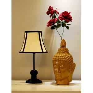 Tucasa Table Lamp with Stripe Shade, LG-354, Weight: 550 g