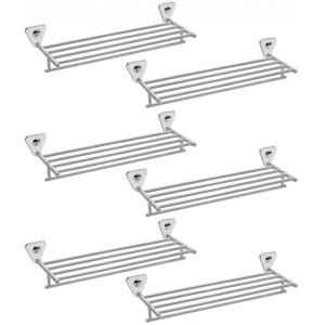 Abyss ABDY-0837 24 Inch Glossy Finish Stainless Steel Bathroom Towel Rack (Pack of 6)