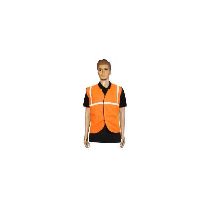 Nova Safe 1 Inch Orange Front Opening Safety Jacket