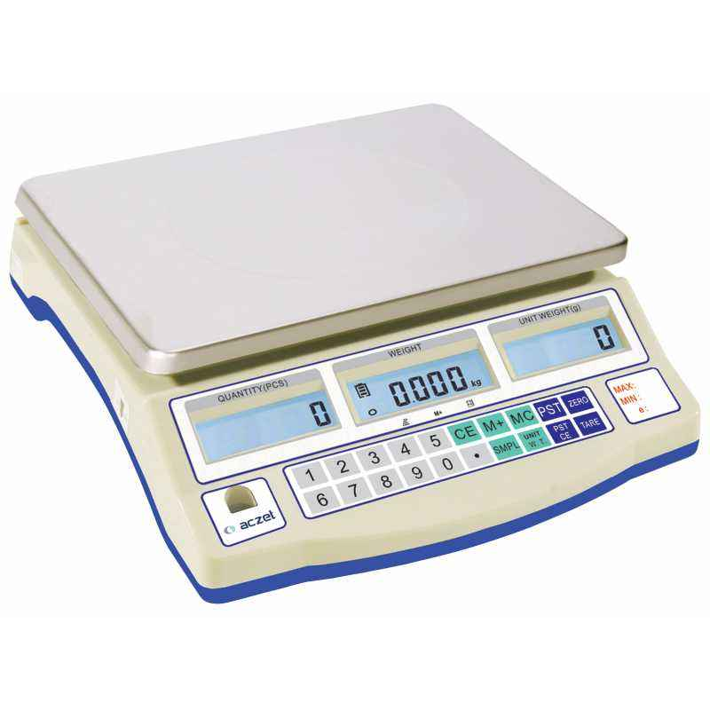 Aczet CG 30N Stainless Steel Counting Scale, Capacity: 30 kg