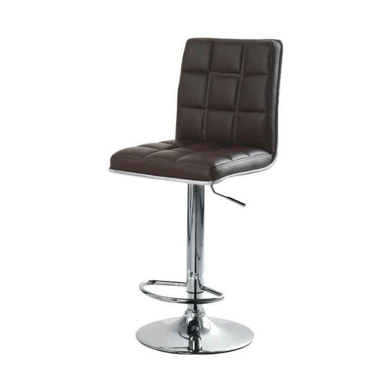 Atharvo 136 Black Without Arm Adjustable Office Bar Stool