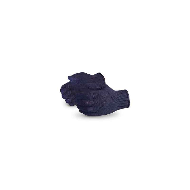 Noble 50g Blue Cotton Knitted Gloves (Pack of 120)