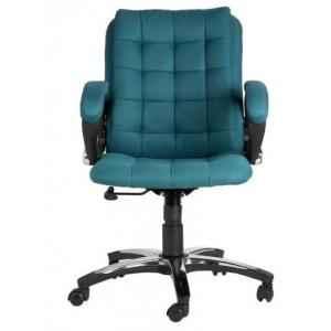 "VJ Brillo Ergonomic Medium Back Office Chair"" "" Colour: Ocean Green"