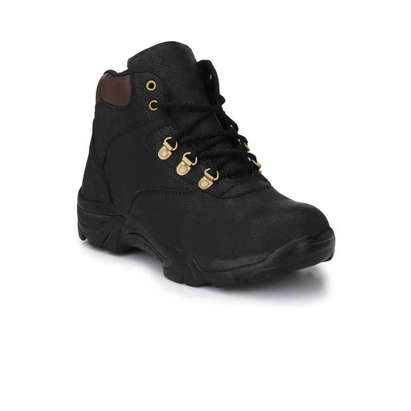 Eego Italy WW-48 Synthetic Steel Toe Black Safety Boots, Size: 11