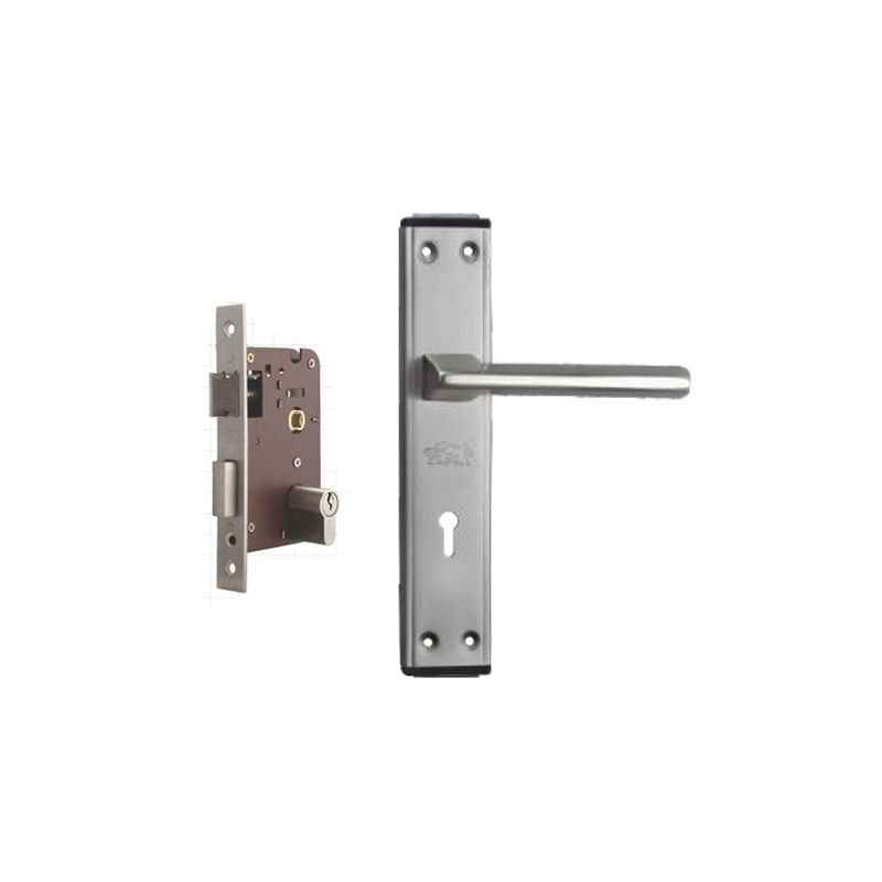 Plaza Skoda Stainless Steel Finish Handle with 200mm Pin Cylinder Mortice Lock & 3 Keys