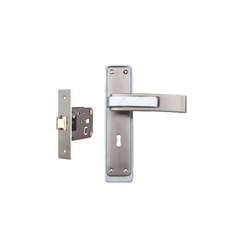 Plaza Royal Stainless Steel Finish Handle with 200mm Baby Latch Keyless Lock