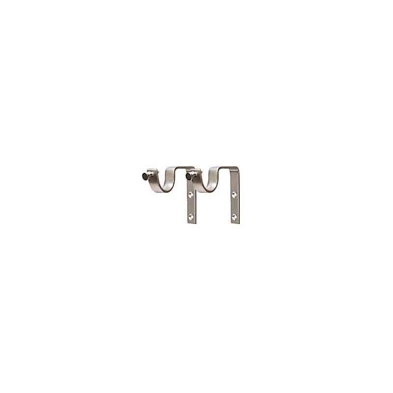Smart Shophar 28mm Stainless Steel Single Center Support Curtain Bracket Set, 64813-SCB-SS
